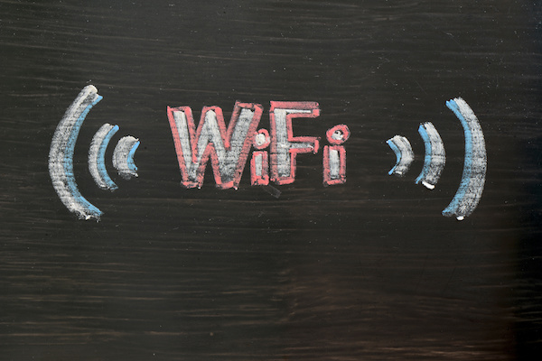 Chalk drawing of WIFI